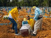Új negatív rekord Brazíliában: 24 óra alatt 4249 koronavírusos beteg hunyt el