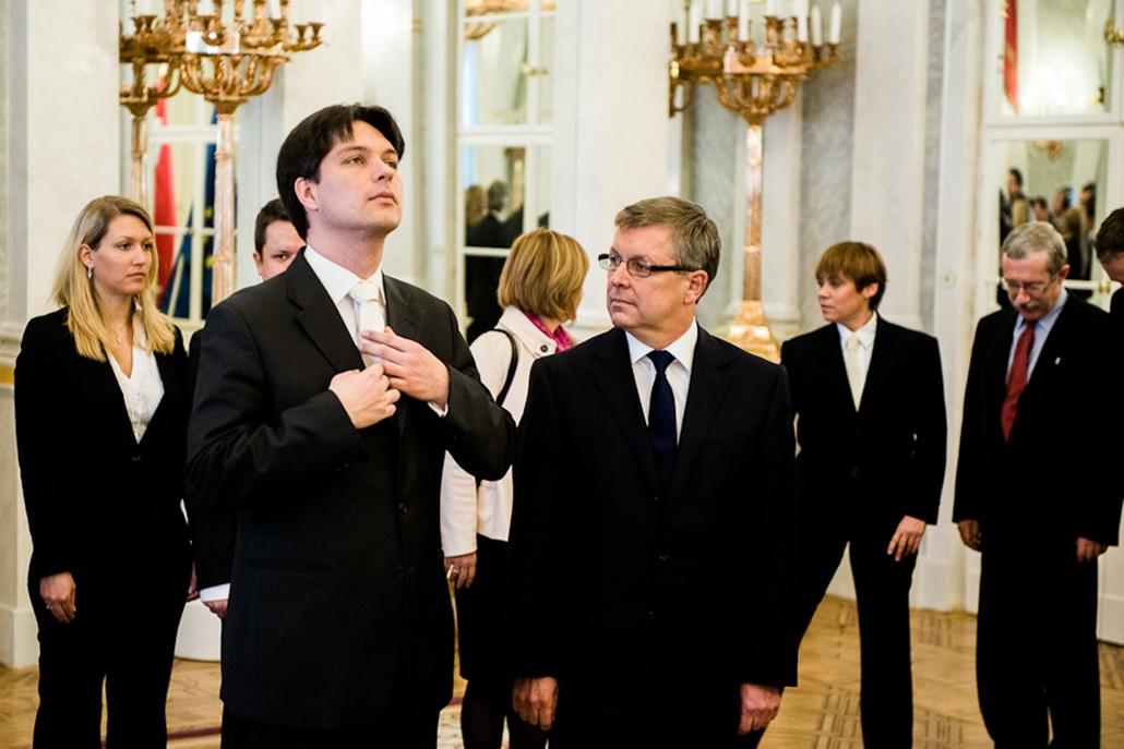 Matolcsy György beiktatása Sándor Palota