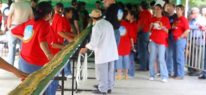 Fotó: elkészült a világ legnagyobb hotdogja