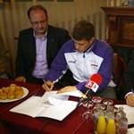 Fotó: Gyurta Dániel aláírt az UTE-nál