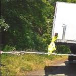 Fotó: Most egy keresztben a trélerre tett utánfutót kapcsoltak le a rendőrök