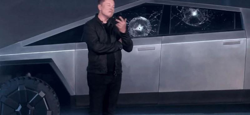 Musk megmagyarázta, hogyan törhetett be az elvileg törhetetlen üvege