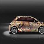 Autózna vele? A Káma-szútra-illusztrációt kapta fényezésként ez a Fiat 500-as
