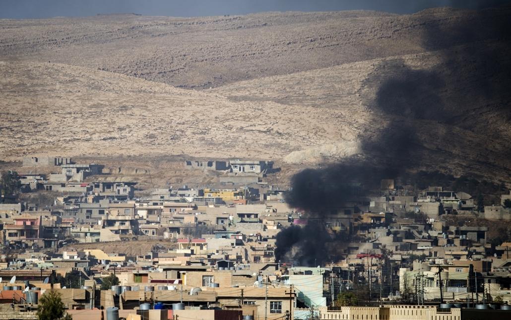 afp.16.11.08. Bashiqa város látképe. Moszul, Mosul,