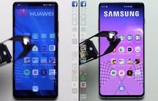 Ennek nem fognak örülni Kínában: összemérték a Galaxy S10+ és a Huawei P30 Pro sebességét – videó