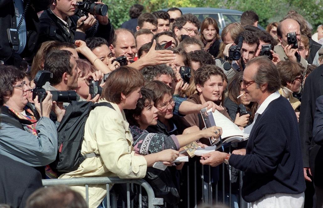 afp.95.09.09.- Deauville, Franciaország: - Jack Nicholson a Menekülés az éjszakába című film bemutatóján a franciaországi Deauville városában. - nagyítás