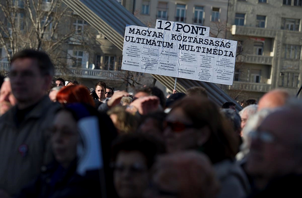 Milla tüntetés - Március 15