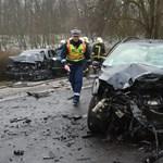 Fotó a nyírségi halálos baleset helyszínéről