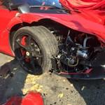 Megjavították a Váci úton lenullázott Ferrarit - videó