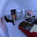 Így néz ki az első kelet-európai jéghotel a Fogarasokban