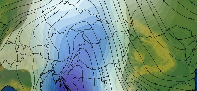 Így érkezik meg az özönvizet hozó ciklon - térképek