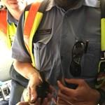 Fotó: Így mentettek kiskacsákat az M3-ról a jófej rendőrök