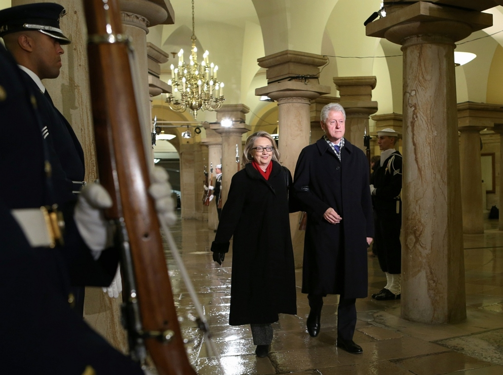 2012.01.21. - Barack Obama eskütétele utáni ceremónia a Kapitóliumban - Bill Clinton, Hillary Clinton - CLNTNAGY