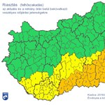 Riasztás: viharos péntek este várható délen – térkép