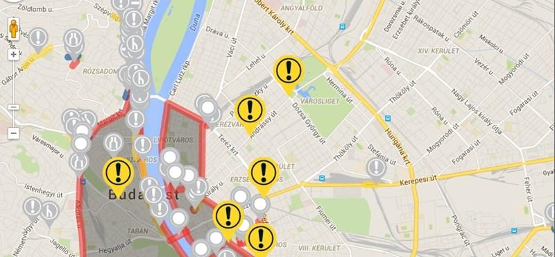 Beszakadt több út Budapesten, 100 helyen sötétek voltak a lámpák