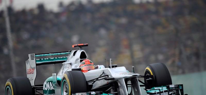Kisodródott Schumacher a Német nagydíj edzésén - videó