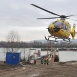 A Dunába zuhant egy helikopter Csepelnél -  megdöbbentő képek