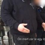 Fekete ruhás biztonságiak jelentek meg az SZFE-n, hogy megakadályozzák a szalagozást