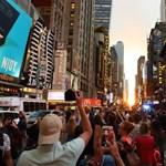 Káprázatos jelenség a manhattani napforduló – zseniális fotók