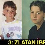 Amikor Ibra még helyes fiúcska volt - felismeri a futballsztárokat gyerekként?