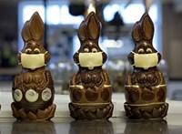 Még a csokinyulakra is maszkot ad egy belga cukrász