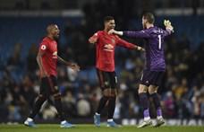 A manchesteri rangadón a United idegenben legyőzte a Cityt