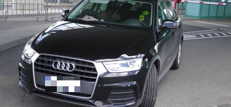 Röszkénél bukott meg a Q3-as Audi sofőrje