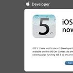 Már a fejlesztőknél az iOS 5.1 beta