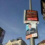 Fotó: Az Elios-üggyel kampányol új plakátjain az MSZP–Párbeszéd