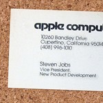 Steve Jobs névjegykártyája 1979-ből