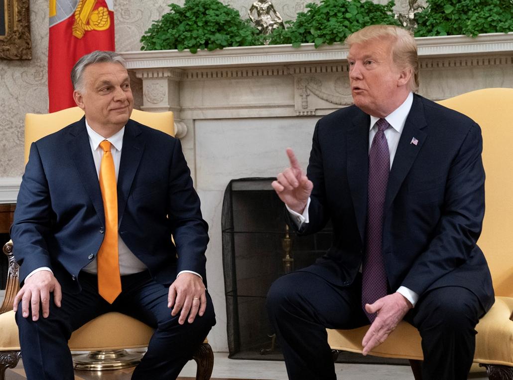 Trump nagyítás afp 2019 május 13 Orbán viktor és Donalad Trump a fehér házban