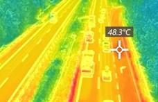 Több mint 48 fokos az M7-es autópálya aszfaltja