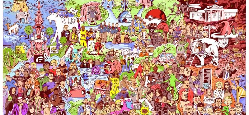 Egy igéző rajzon jelenik meg 2016 minden fontos eseménye