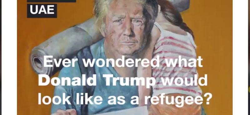 Gyermekét cipelő Trump, megfáradt Merkel, kolduló Putyin - furcsa vízióban álltak össze a világ vezetői