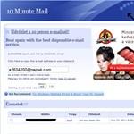 Spamek ellen: e-mail cím, csak 10 percre!