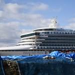 Koronavírus nyomait találták a karanténba zárt hajón 17 nappal azután, hogy kiürítették