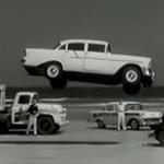 Zseniális retro videó: így trükköztek a kaszkadőrök a Chevyvel 1956-ban
