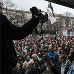 A kilakoltatások ellen tüntettek Budapesten