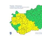 Sárga a fél ország: bármikor lecsaphat egy zivatar