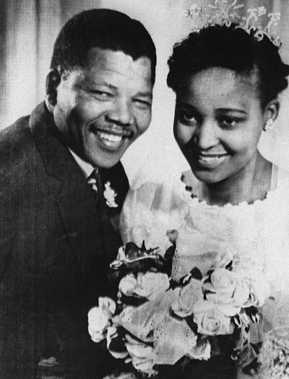 Nelson Mandela és felesége