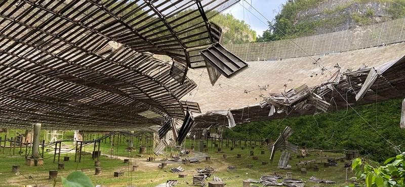 Súlyosan megrongálódott a világ egyik legfontosabb rádióteleszkópja