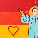 Itt az oltár, amelyen Szent Orbánhoz imádkozik M. Lőrinc angyal