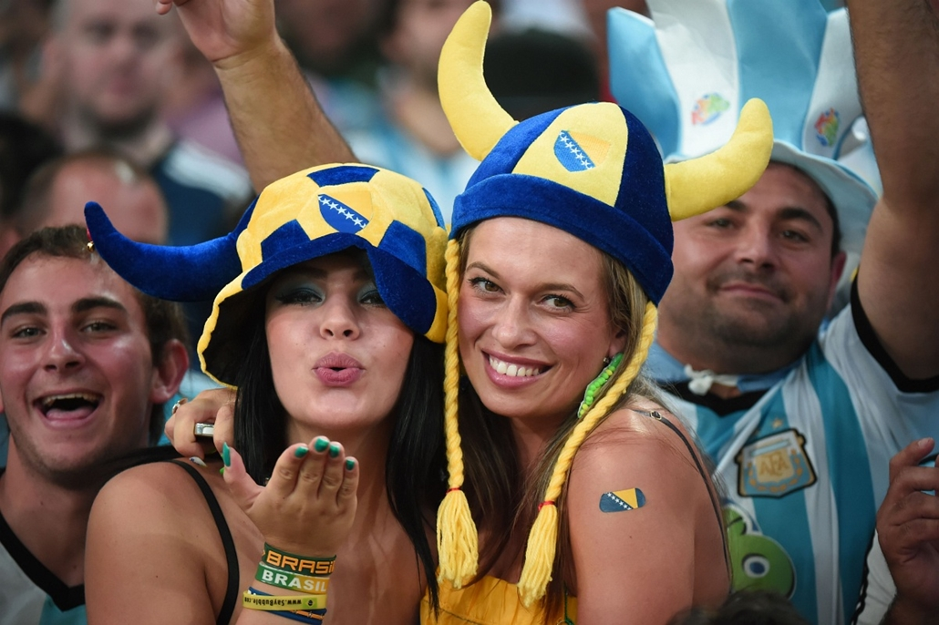 afp.14.06.15. -  Rio de Janeiro, B.RAZ: 11.meccs - argentin-bosznia-argentin meccs - vb14meccs, foci-vb 2014, vb-2014, vb14tömeg, vb14szurkoló