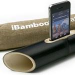 Bambuszból iPhone-hangszóró, ez valami vicc?