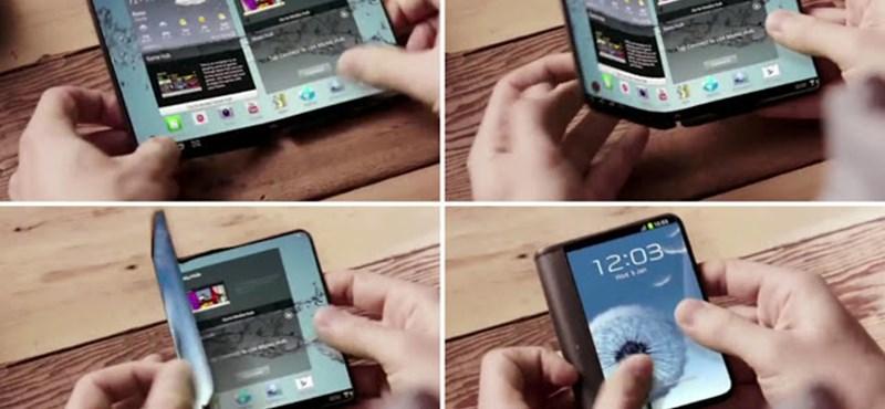 Már januárban megjelenhet a Samsung összehajtható okostelefonja