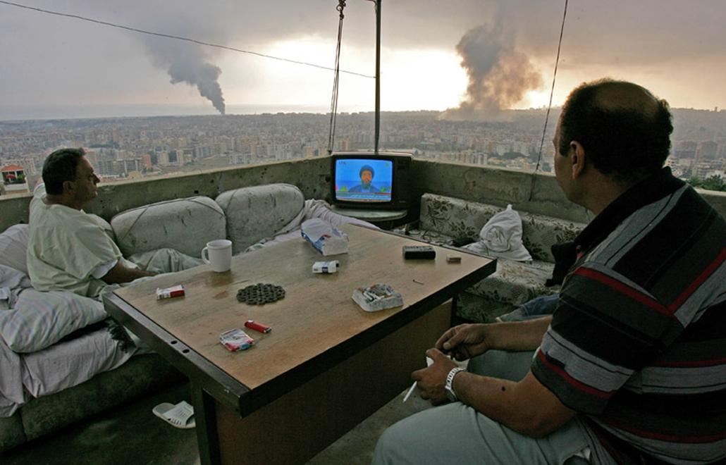 Bejrút izraeli bombázása 2006 júliusában.