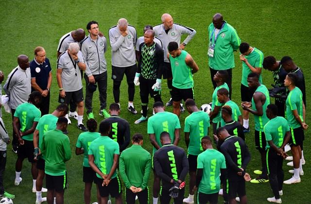 afp.18.07.09. - Ima - Az egész Nigériai csapat.