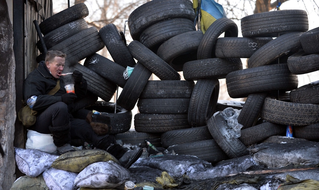 afp. hét képei - nagyítás - Kijev, ukrajna, tüntetés, 2014.01.30.
