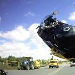 Százhatvannál szállt el az egykerekező motoros járgánya – videó