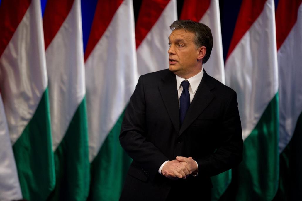 sa. 12.02.07. Orbán Viktor miniszterelnök  évértékelő beszédét tartja a budapesti Millenárison 2012. február 7.